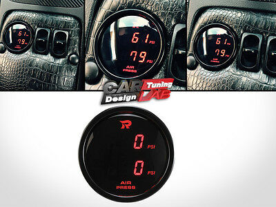 52mm Dual Air Pressure Gauge RED LED endless Viair ARB/on board air suspension
