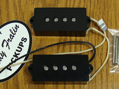 NEW Lindy Fralin +10% Overwound P Bass PICKUP SET Black for Fender Precision