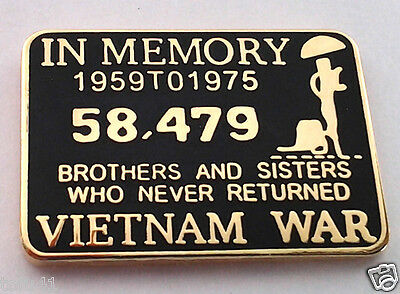 *** IN MEMORY OF THE VIETNAM WAR *** Military Veteran Hat Pin 15843 HO  SMALL