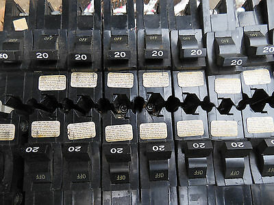 FPE Federal pacific NB120 1pole 20amp 120v circuit breaker NB type bolt on