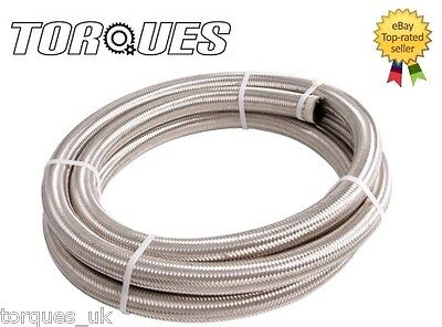 AN -6 (AN6 AN06) Stainless Steel Braided Fuel Hose 3 m