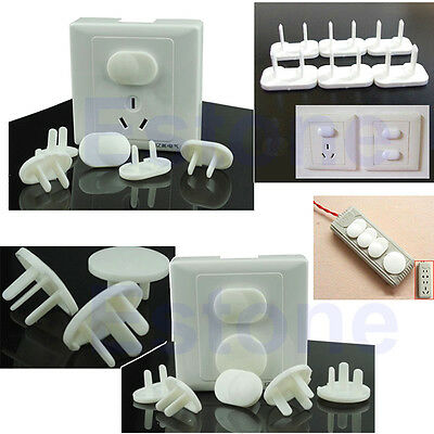 20pcs Electric Outlet 2 or 3 Plug White Cover Children Kids Baby Safety Covers