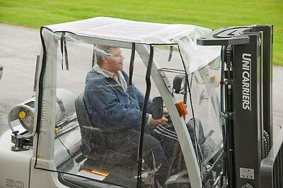 Heavy Duty Full Forklift Cab Enclosure Cover Clear Vinyl Large size