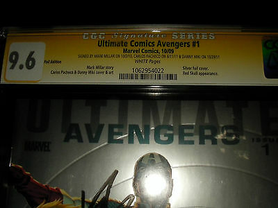 Ultimate Comics Avengers #1  Foil Variant Cgc 9.6 Ss Mark Millar Carlos Pacheco