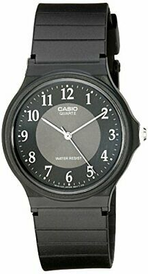 Casio MQ24-1B3 Men's Resin Band Casual Black Numbers Index Dial Analog Watch