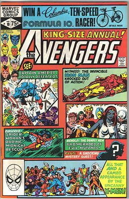 The Avengers King Size Annual Comic Book #10, 1st Rogue Marvel 1981 NEAR MINT