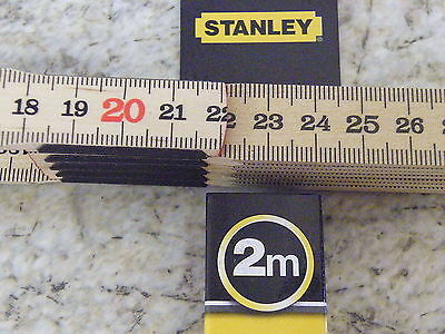 Stanley Tools 2m Folding Pocket Rule Hi Quality measuring Ruler 351014