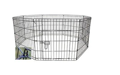 "6 or 8 24"" wide panel sided pet dog puppy guinea pig rabbit exercise play pen"