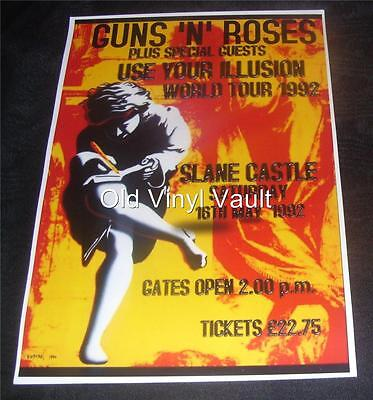Guns'N'Roses Repro Concert Poster Slane Castle Ireland 1992 New A3 Size