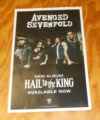 Avenged Sevenfold Hail to the King 2-Sided Promo Poster 2013 11x17
