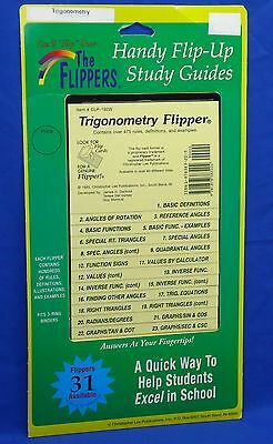 Flipper Flip-Up Study Guide Trigonometry Over 475 Rules Defs & Examples C306