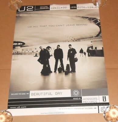 U2 All That you Can't Leave Behind 2000 Promo Original Poster MINT 18x24