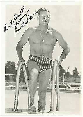"""12""""x8"""" PHOTO PRINTED AUTOGRAPH - BUSTER CRABBE b"""