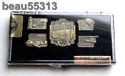 "2004 Harley Davidson ""Great Lakes Ontario Tour ""  Hog On Tour Pin Set"