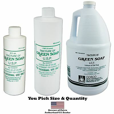 COSCO Pure GREEN SOAP concentrate detergent bottle clean ink tattoo spray wash