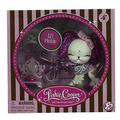 Pinkie Cooper Jet Set Pets - Li'l Pinkie Pet & Accessories - 33020 - NEW