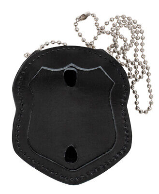 badge holder police security law enforcement leather with clip rothco 1135