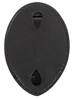 badge holder leather clip on west coast style rothco 1131