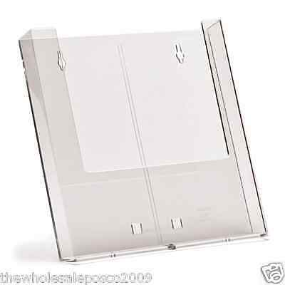 3 x A4 WALL MOUNTABLE LEAFLET HOLDERS BROCHURE MAGAZINE SHOP DISPLAY DISPENSER
