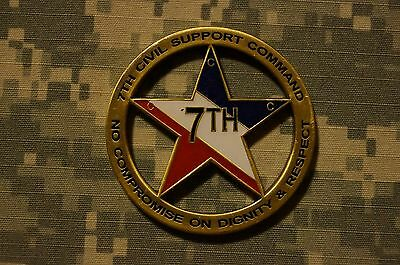 UNIQUE US Army 7th Civil Support Command 21st TSG Germany Challenge Coin