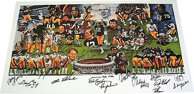 Pittsburgh Steelers Team of the Decade Autographed Auto Lithograph - JSA COA