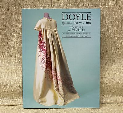 Doyle NY 1999 COUTURE & TEXTILES Auction Catalog Designer Clothing & Accessories