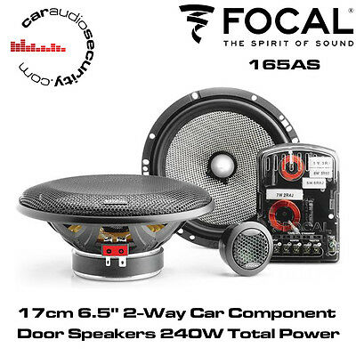 "Focal 165AS 17cm 6.5"" 2-Way Car Component Door Speakers 240W Total Power"