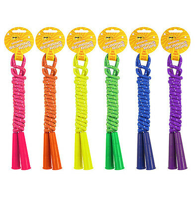 Skipping Rope 7Ft Long 7Mm Coloured Outdoor Toy Beach Kids Childrens Loot Party
