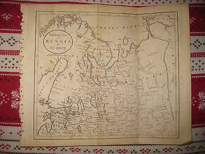 Antique 1805 Northern Russia In Europe Copperplate Map Archangel Lapland Arctic