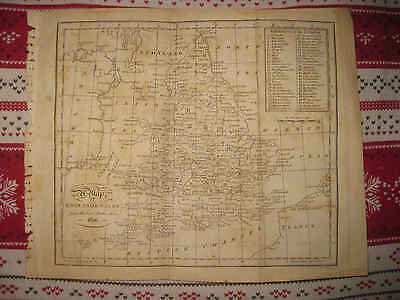 Fine Antique 1801 England Wales Copperplate Map 1801 In Title British Sea County