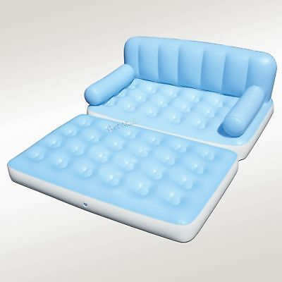 Multi Max Inflatable Pull-Out Sofa Couch & Full Double Air Bed Mattress Sleeper