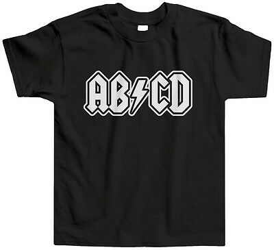 ABCD Toddler T-Shirt Tee Pop Culture Funny Music Rock Roll Letters ACDC