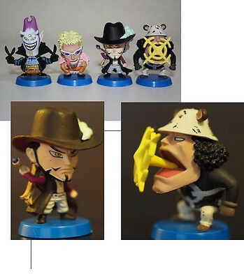 ONE PIECE MINI BIG HEAD 9 GENUINE JAPAN set of 4 Figures kuma doflamingo mihawk