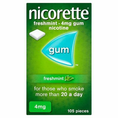 Nicorette Chewing Gum 4mg Freshmint - 105 Pieces