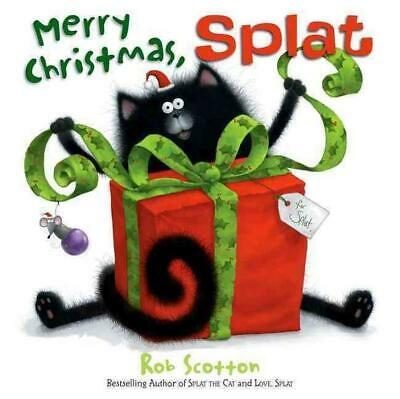 Merry Christmas, Splat by Rob Scotton (English) Hardcover Book Free Shipping!