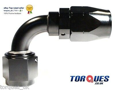 AN -10 (AN10) 90 DEGREE Swivel Seal BLACK Hose Fitting