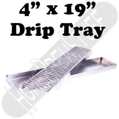 4 x 19 STAINLESS STEEL DRIP TRAY Draft Beer Taps Faucets Homebrew AIRPOTS Coffee