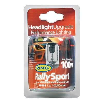 Ring Rally Sport Performance Light Bulbs - Twin Pack - H4 (472) 100w/80w