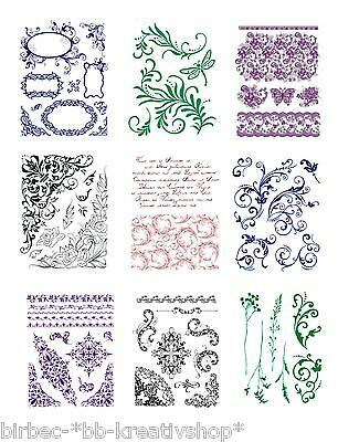 VIVA DECOR Clear Stamps MY PAPER WORLD Silikon Stempel HINTERGRÜNDE + SCHNÖRKEL