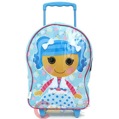"Lalaloopsy Mittens Fluff   Rolling Luggage 16"" Blue Roller Trolley Bag"