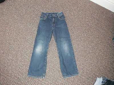 "Next Loose Jeans Waist 26.5"" Leg 26"" Faded Dark Blue Boys 11 Yrs Jeans"