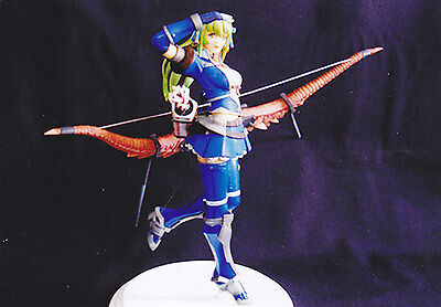 Anime Model Resin Kit - Monster Hunter - Azul With Long Bow 1/8 - Nuovo