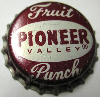 PIONEER VALLEY FRUIT PUNCH cork-lined Soda CROWN, Bottle Cap, MASSACHUSETTS.
