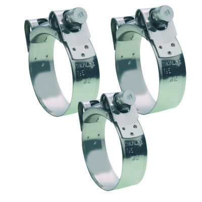New Honda ST1100 Pan European Stainless Steel Exhaust Clamps Set (3 Clamps)