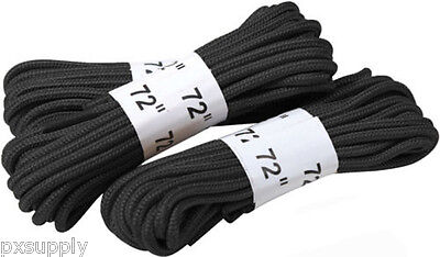 """Black Military 72"""" Boot Laces 3 Pack rothco 61913"""