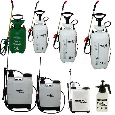 2 5 8 16 20 Litre Manual Pressure Sprayer Bottle Knapsack Weed Killer Garden LTR