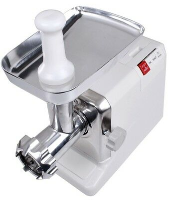 Electric 2.6 HP 2000 Watt Industrial Meat Grinder Butcher Shop 3 Cutting Blades
