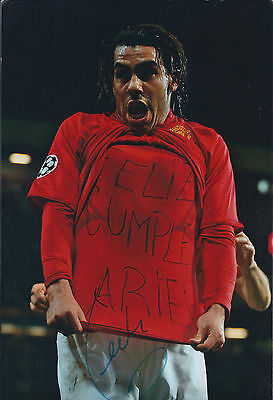 Carlos TEVEZ SIGNED Autograph 12x8 Photo AFTAL COA Manchester United Authentic