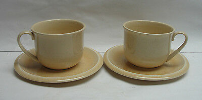 TWO (2) FRANCISCAN CHINA - SEA SCULPTURES/SAND  Pattern - CUP & SAUCER SETS