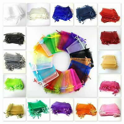 2 / 25 / 50 / 100 Organza Bags / Jewellery Pouches 11x16cm UK SELLER